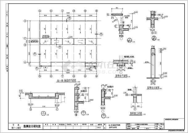 【三门县】某厂区四层框架结构办公楼建筑设计施工图纸