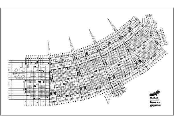 义务四层框架结构小商品市场建筑方案设计图