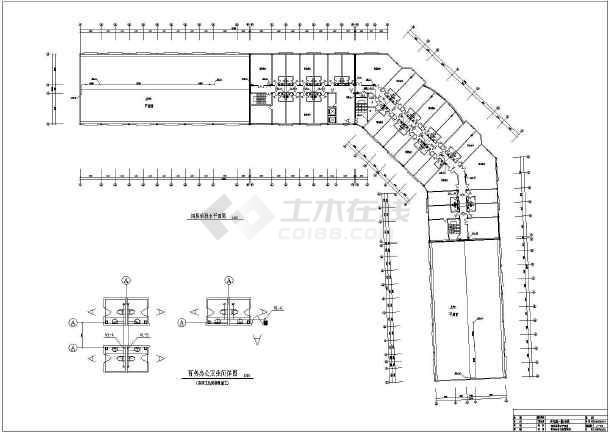 某商场四层框架结构商铺给排水消防设计图