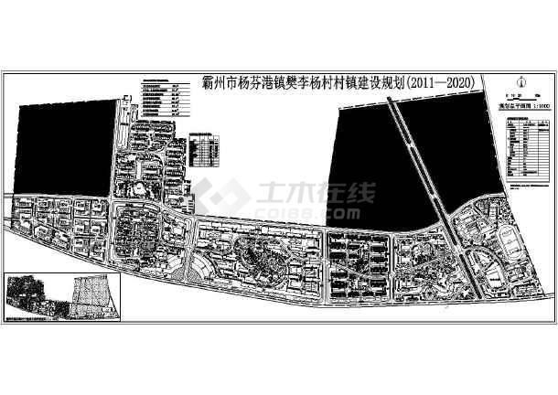霸州某小区建筑规划设计方案总平图 图1 高清图片