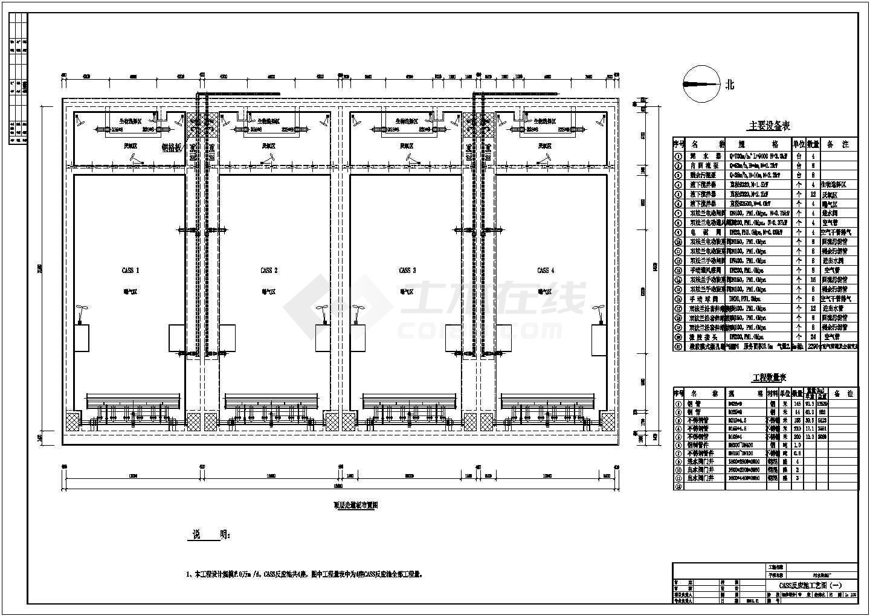 某工厂厂区内cass爆气池流程设计图