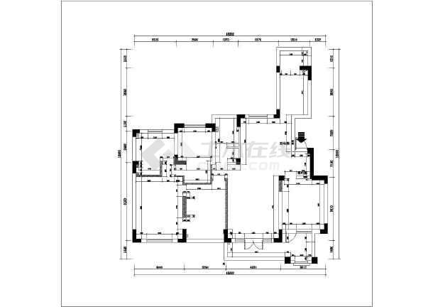 图纸 装修设计  家装设计  三室一厅装修设计图  苏州四季花园3室一厅