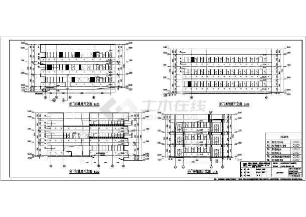 某地区三层物管办公楼建筑设计施工图