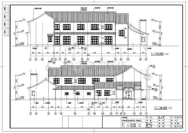 一套完整的仿古建筑施工图