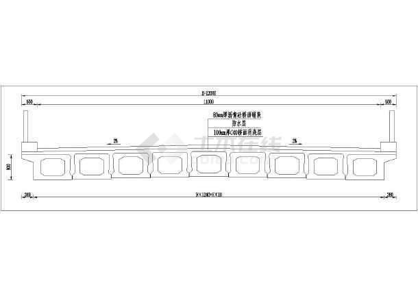 16m简支梁空心板标准图(后张简支L=16m宽1数控铣床证中级图纸图片