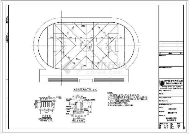 本图为贵州省某校300米运动场,包括塑胶跑道和内环排水沟,新建人工图片