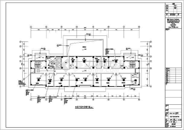 【浙江】大型8层钢结构办公楼强电图纸设计施自行车设计双人系统图片