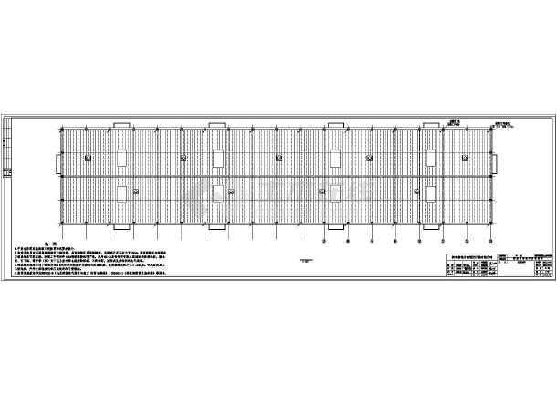 某跨钢结构水暖库建筑结构全套照明图纸图_c棉花v水暖编号图片