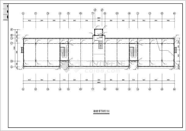 某七层框架结构宿舍楼强电设计详细竣工图