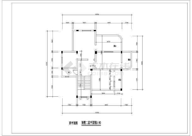 别墅室内外装修设计cad图纸图片2