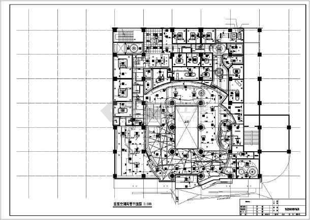 【北京】某ktv全套空调通风cad施工设计图图片
