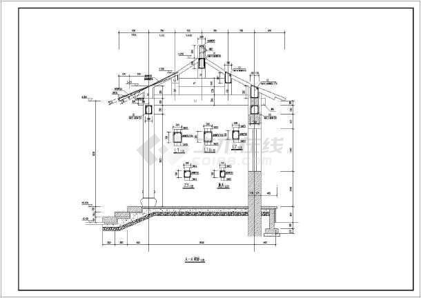 某地古代凉亭建筑设计施工图图片1
