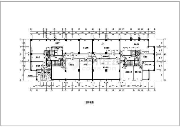 某地多层公寓平面图(含建筑面积)-图1