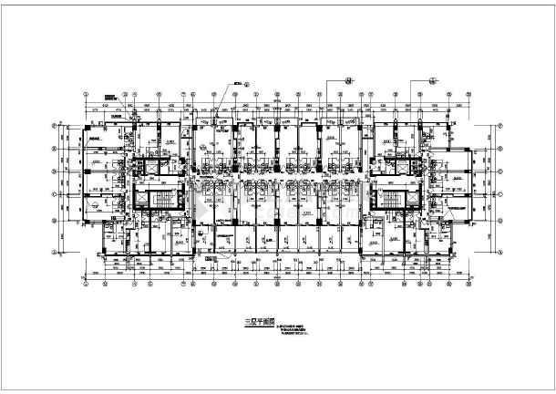某地多层公寓平面图(含建筑面积)-图2