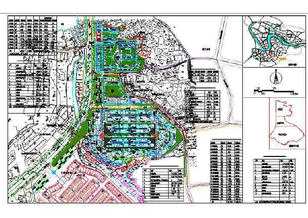 某水暖城建筑规划设计图纸,含效果图图片