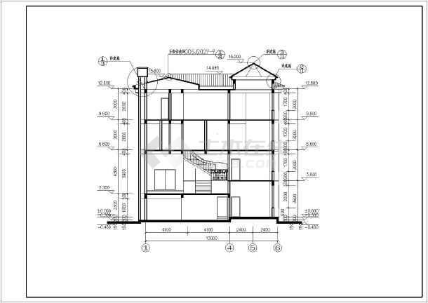 经典欧式风格带地下室三层别墅建筑设计图