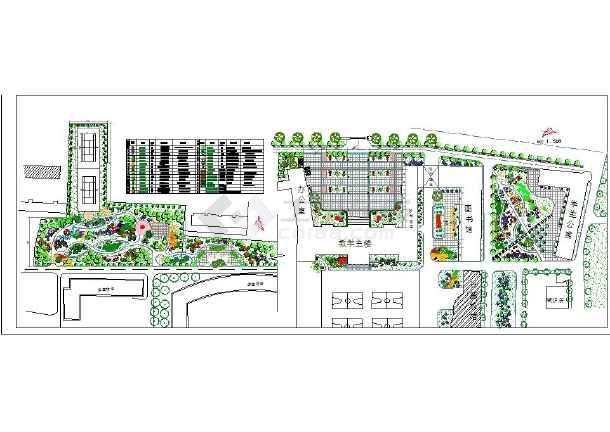校园广场景观设计平面图