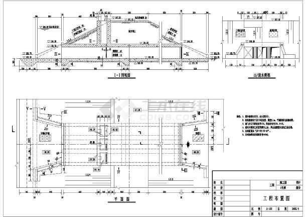 水利工程设计图 闸门启闭机