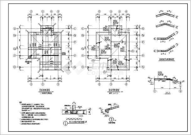 某地3层全套框架别墅别墅结构施工图v全套拆迁结构亳州图片