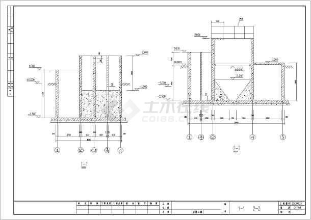 80t磷化废水工程工艺及结构施工图_cad图纸下载-土木
