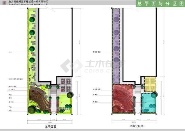 别墅庭院手绘平面图