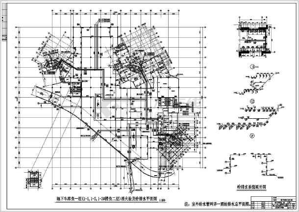 人防建筑给排水施工图图片