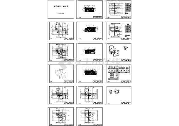 全套别墅建筑结构水电施工图