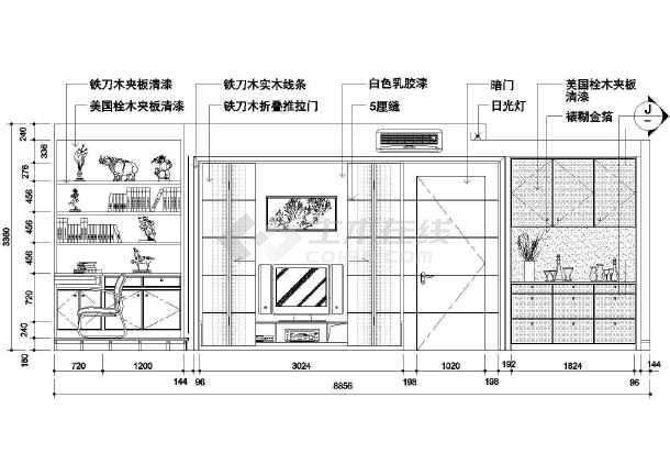 一居室小户型装修图 一居室小户型装修图cad图纸下载 土木在线