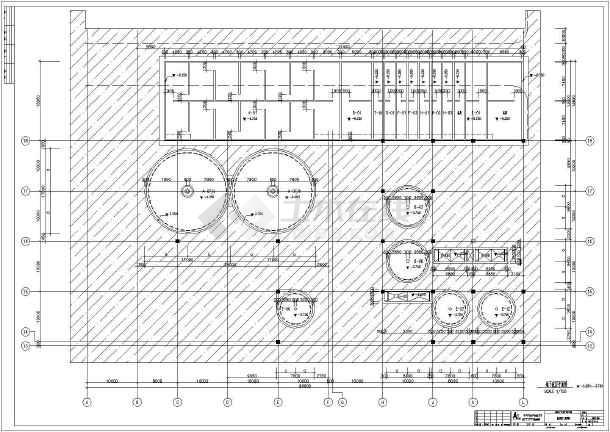 某地二层(带地下室)框架结构废水处理池结构施工图