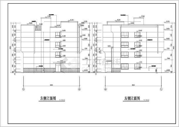 某地四层框架结构乡镇卫生院住院部大楼图片