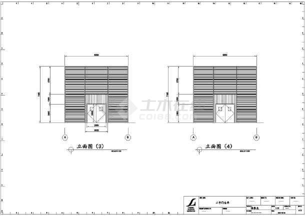某地单层排架结构厂房建筑设计施工图