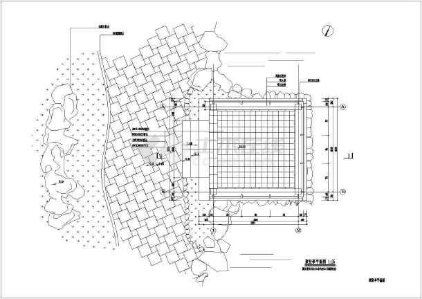 某临水防腐木景观四角亭全套施工图