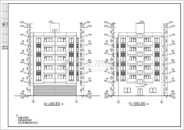 某地6层砖混结构住宅楼建筑施工图纸