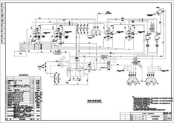 燃气蒸汽锅炉锅炉房设计图,图纸包括设计说明,二层锅炉房工艺管道平面
