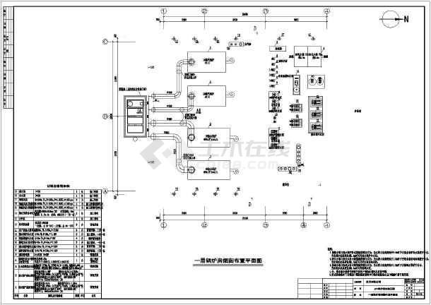 2台6吨燃气蒸汽锅炉锅炉房设计图