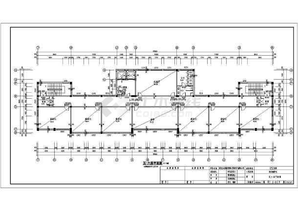 某地9层框架结构办公楼建筑及结构施工图