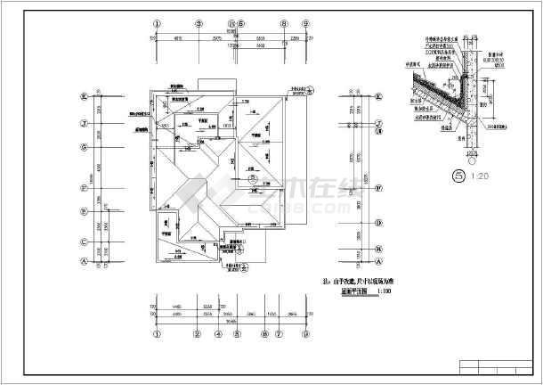 某地两层砖混结构别墅设计全套施工图纸