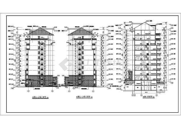 墙结构住宅建筑方案图,图纸包括:地下1层平面图,设备管道夹层平面图