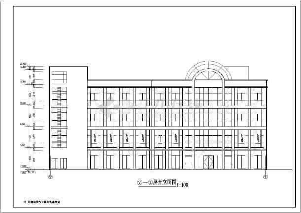 某地四层框架结构商场建筑设计方案图