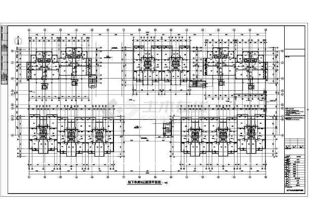 某住宅小区长度地下单层建筑设计施工图_cadcad的线怎么画车库图片