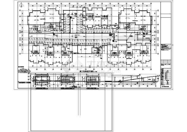 某住宅小区厨房地下车库建筑设计施工图单层v厨房机台设计图图片