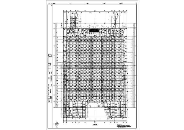 馆混凝土框架结构施工图简介:  图纸包含基础平面布置图,梁板柱配筋图