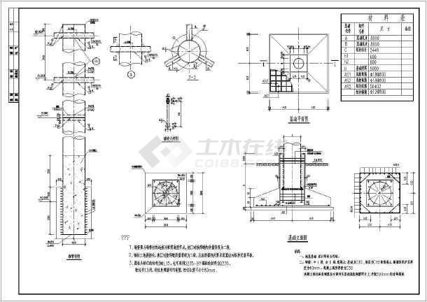 钢结构单立柱三角形广告牌结构方案设计图
