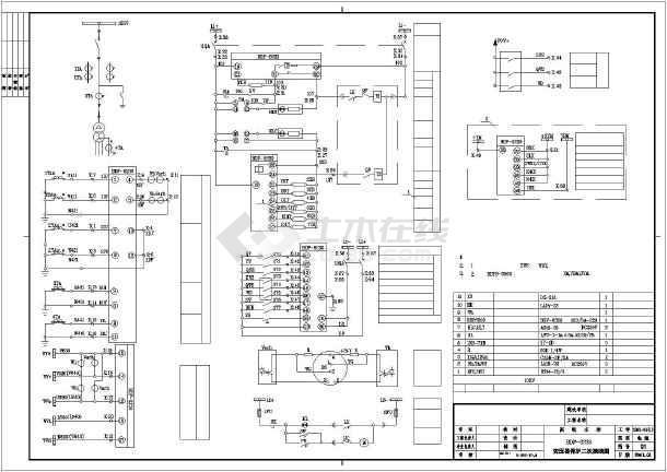 10kv配电室及变压器继电保护二次线路原理图