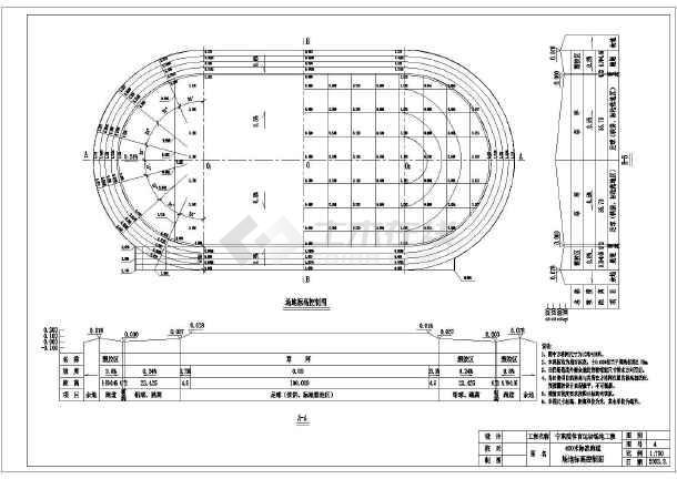 排球场馆设计400米标准跑道设计图400米塑胶跑道施工