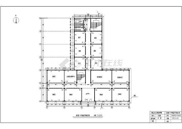 中学四层教学楼建筑设计方案,采用框架结构,图纸内容包含:各层平面图图片