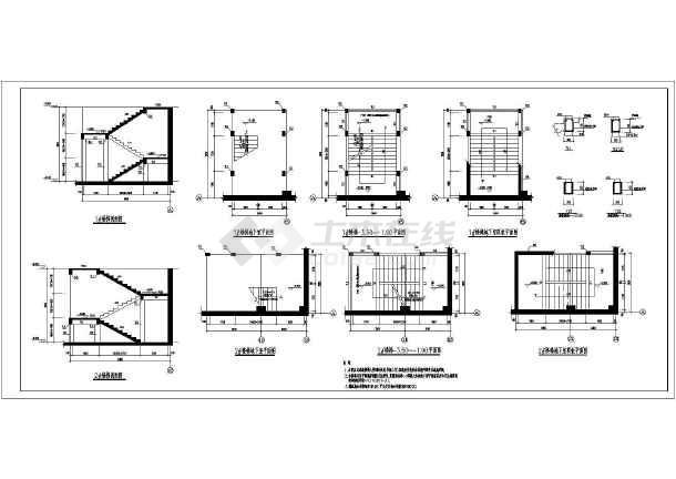 钢结构图纸 其他建筑结构设计施工图 典型地下室空心无梁楼盖+抗水板