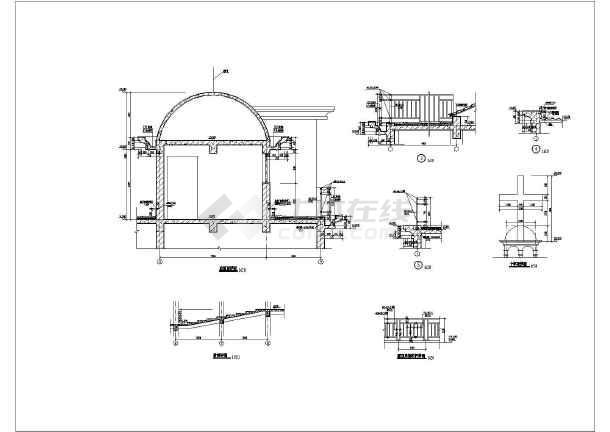 图纸 建筑图纸 办公楼设计 欧式办公楼 某三层框架结构教堂建筑施工图