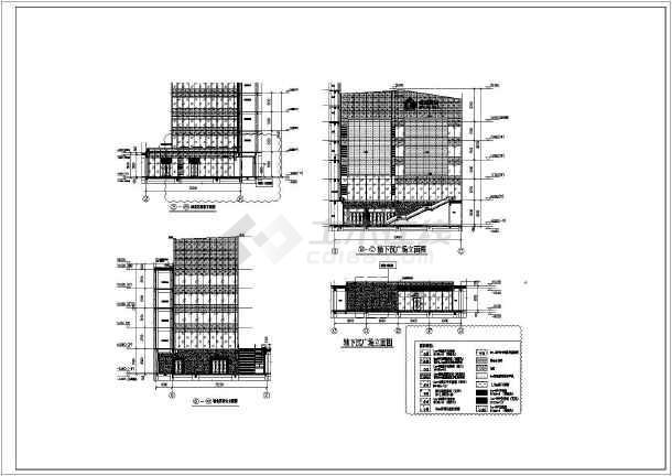 超高层裙房幕墙设计施工图_cad图纸下载-土木在线