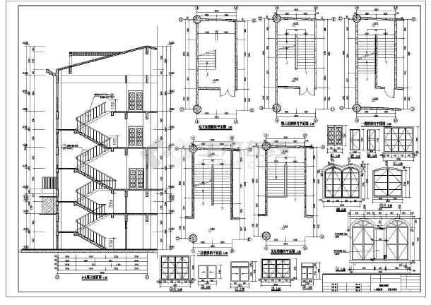 某地3层小区欧式会所建筑设计图纸